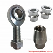 "Rod End Kit - Single Joint - 7/8-14 x 7/8 bore Chromoly Heim - 1.5"" OD Tubing - Shown With Optional Misalignment Spacers"