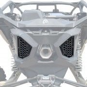 Billet Rear Grille Bezels for Can-Am X3 - Black Powdercoat Finish